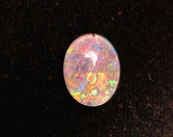 Fire Opal cabochon doublet, pin fire opal, fire opal