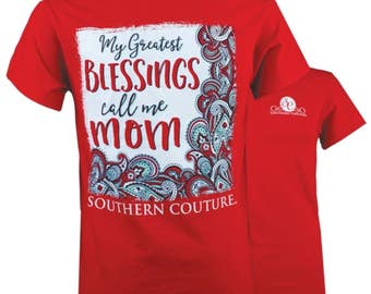 "Southern Couture ""Mom's Greatest Blessings"" tshirt"