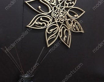 Stainless steel surah ikhlas wall clock modern islamic clock for Islamic wall clock singapore