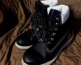 timberland black and cream color size 7us womens 5 mens