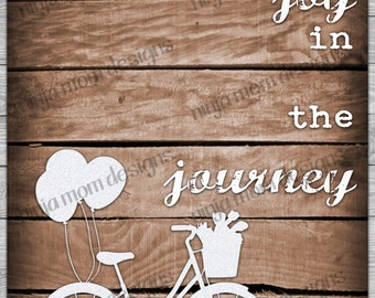 Find Joy in the Journey Bicycle Digital Print
