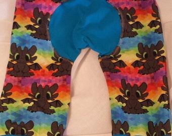 Size 1 rainbow toothless maxaloons