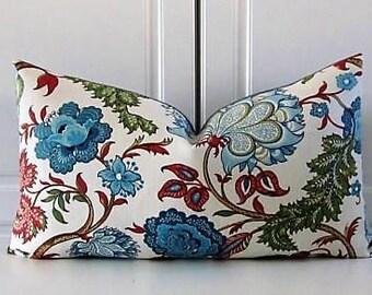 Blue Jacobean Pillow Cover- Barclay Butera