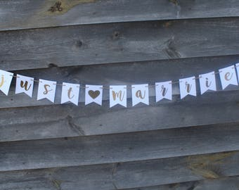 WEDDING - Just Married Banner - Wedding Banners - Wedding Sign