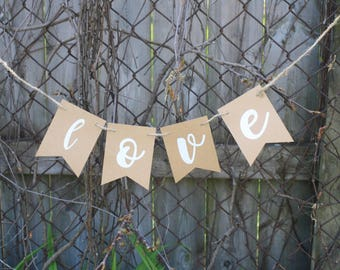 WEDDING - Love Banner - Wedding Decor - Wedding Sign - Wedding Banner