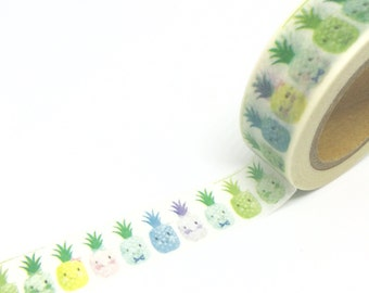 Cute Pineapples Washi Tape 15mm x 10m
