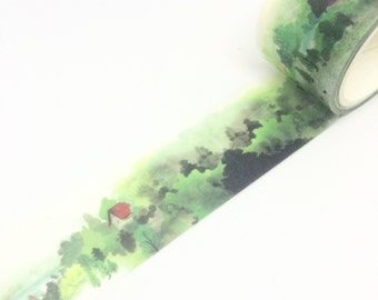 Forest Woodlands House Washi Tape 30mm x 5m