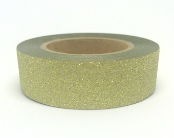 Gold Sparkly Glitter Sticky Tape 15mm x 10m