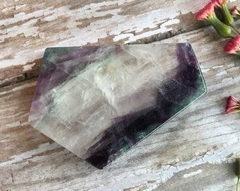 Rainbow Fluorite Slabs-Polished Fluorite- Rainbow Fluorite-Polished Fluorite Slab-Reiki Healing-Metaphysical Crystals