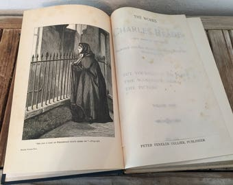 Antique Book Titled The Works Of Charles Reade