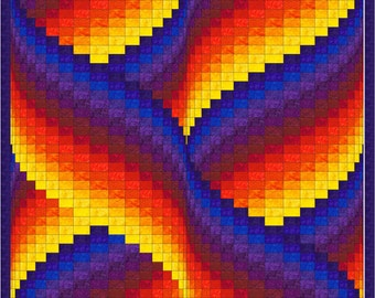 Ribbon Swirls Bargello Quilt Pattern