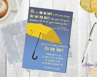 How I Met Your Mother Yellow Umbrella Wedding Invitation • Digital or printed