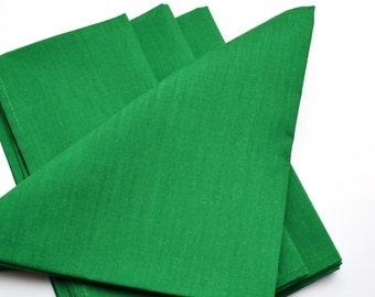 Napkins Holiday Green Cotton Set of 4