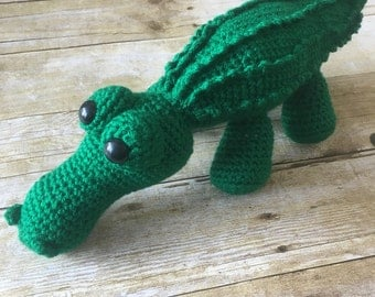 HANDMADE Crocheted Crocodile. Stuffed Crocodile. Crocodile Toy. Stuffed Animal. Baby Boy.