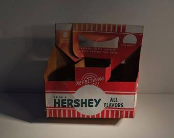 1951 Vintage HERSEY 6-Park Cardboard Bottle CARRIER CARTON
