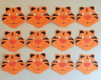Jungle animals masks, safari masks, kids mask, tiger lion mask, monkey mask, tiger masks, tiger foam masks, set of tiger masks