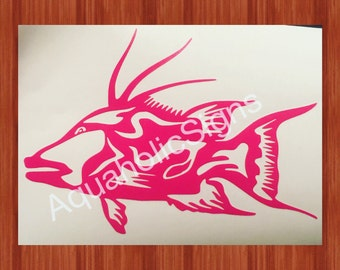 Hogfish Decal For Yeti/ RTic/ Vehicle/ LapTop/ Tumbler/ Notebook