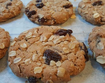 Old fashioned Oatmeal Raisin Cookies  1 Dozen Gourmet