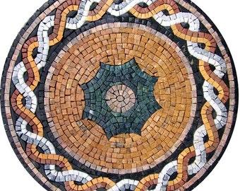Circular Stone Mosaic - Suha