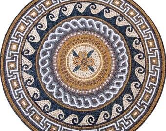 Greco-Roman Mosaic Rondure - Aelius