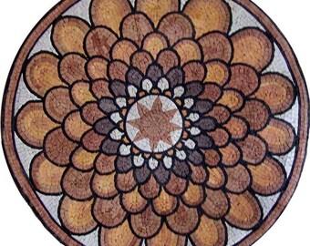 Flower Mosaic Medallion - Amapola