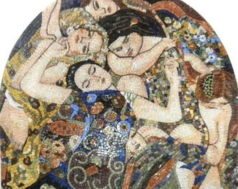 "Gustav Klimt  "" Virgins"" - Mosaic Reproduction"