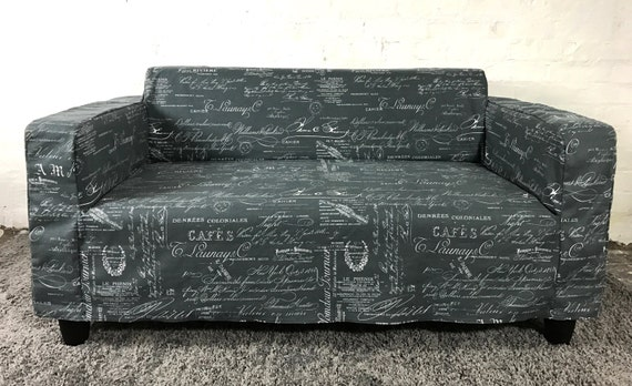 Slip Cover For The Ikea Klobo Sofa In Lovely Charcoal Coffee