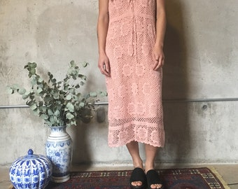 Price reduced - was 45 Pink crochet dress s-m