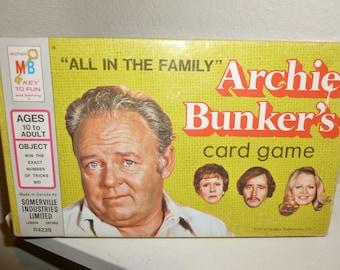 Vintage Archie Bunker TV Show Card Game
