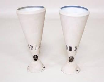Vintage Philips lamp, Dutch design Louis Kalff Philips spot set of 2, mid century modern lamps