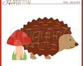 60% OFF Hedgehog with Mushroom Single Clipart Commercial Use License Included