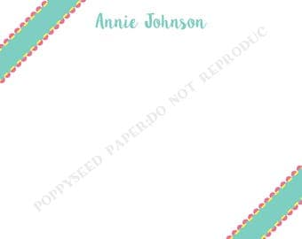 Personalized note card, personalized flat note cards, Thank You Note, stationery with name