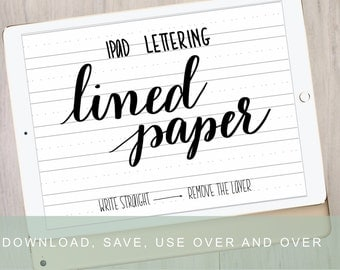 Digital Calligraphy Paper | iPad Pro Procreate Lettering Digital Paper | Brush Lettering Background by Kestrel Montes