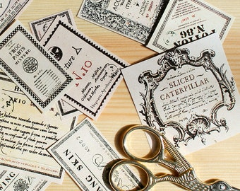 24 Potion Label Stickers - Based on designs from Harry Potter movies - Din a4 uncut sticker paper sheet
