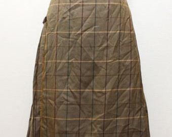 70s vintage Burberrys kilt skirt made in England
