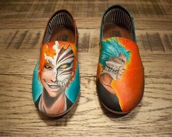 Custom Hand Painted Shoes - Anime - Bleach