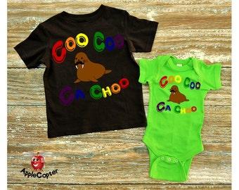 Kids Cute Beatles Shirt, Coo Coo Ca Choo, Baby Walrus Shirt, Toddler Beatles Shirt, Unique Walrus Shirt, Gift For Beatles Fan, Applecopter