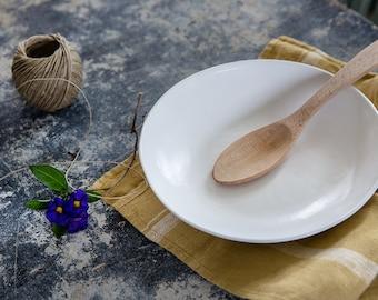 White Ceramic Plate, Modern Ceramic, Handmade Ceramic Plate, Decorative Plate, Ceramic Bowl, Wedding Gift, Housewarming gift