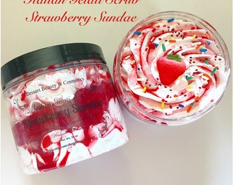 Strawberry Sundae Italian Gelati Scrub