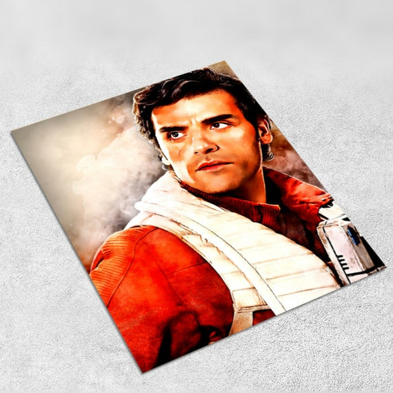 Poe Dameron Star Wars Art Print Poster - Episode VII The Force Awakens INSTANT DOWNLOAD - Ideal Last Minute Gift