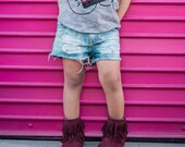 Tear-rific Shorts- baby- toddler- distressed denim
