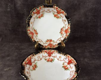 Set of 2 Imari 1105 dishes or small bowls by Sutherland china of England