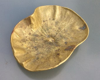 Brass lilly pad sculpture