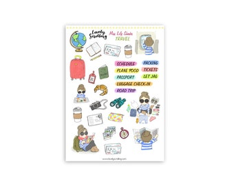 Travel Miss Lily Shades sticker set