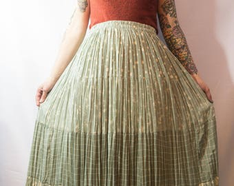 Oxford Pleated Skirt Vintage Size XL FREE SHIPPING