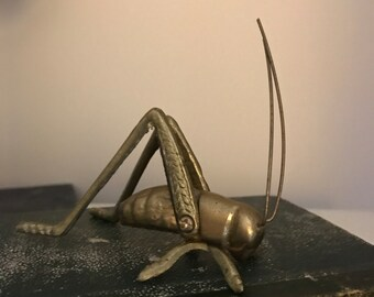 FREE SHIPPING - Vintage Brass Cricket