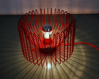 Table Lamp design Bertoia Style Vintage 1980