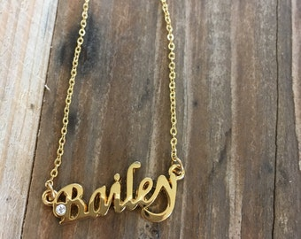 Bailey Necklace in Gold or Silver