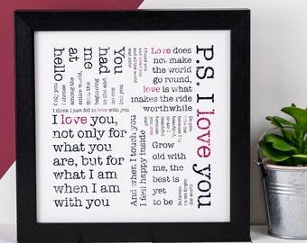 Love Print; Love Quote; Love Quote Print; Love You Gift; Engagement Gift; Love Gift; Love Gift For Her; Wedding Anniversary Gift; AP012