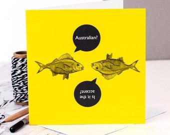 Funny Birthday Card; Australian?; Funny Card; GC483